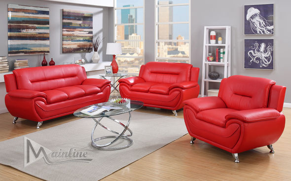 Napoli Red Sofa 71354 Mainline Inc Leather Sofas Leather Living Room Set Affordable Sofa Living Room Leather