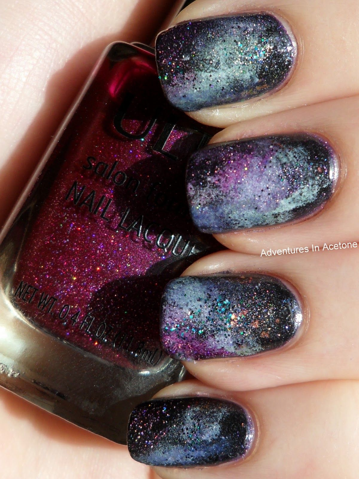 Galaxy Nail Tutorial - Adventures In Acetone   My mani & pedi ...