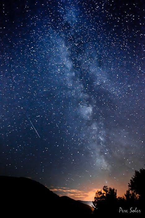"""Esta foto tiene exactamente un año,  corresponde a la lluvia de estrellas de las Perseidas, comunmente conocidas como """"Las Lagrimas de San Lorenzo"""""""