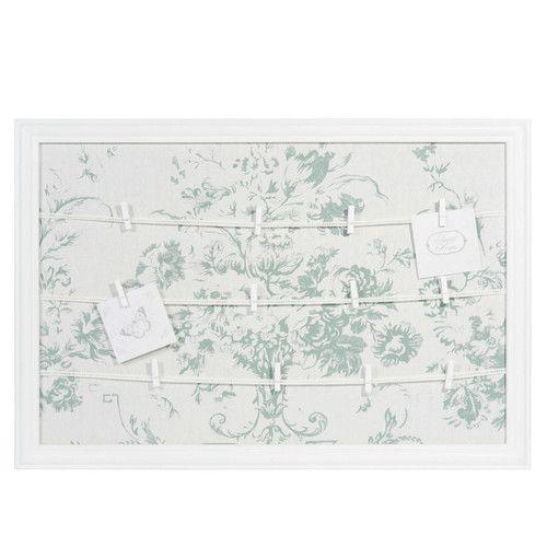 Bacheca foto in legno bianco 44 x 65 cm ANGELINE