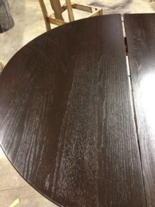 Oak Table Refinished With Java Stain Wood Refinishing Furniture Repair