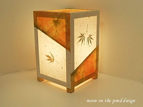 Paper lamp japanese lantern table lamp orange by moononthepond paper lamp japanese lantern table lamp orange by moononthepond aloadofball Gallery