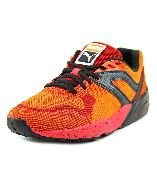6b4d84a4eda0 PUMA PUMA R698 KNIT MESH SPLATTER MEN ROUND TOE SYNTHETIC ORANGE SNEAKERS .   puma  shoes  sneakers
