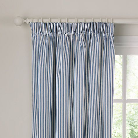 Buy John Lewis Ticking Stripe Lined Pencil Pleat Curtains ...