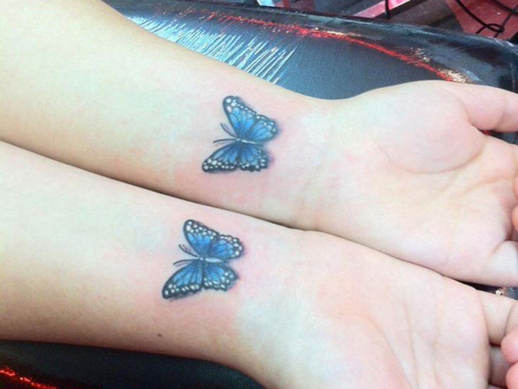 The o jays butterfly tattoos and clothes on pinterest - Blue Butterfly Tattoo Www Galleryhip Com The Hippest Pics