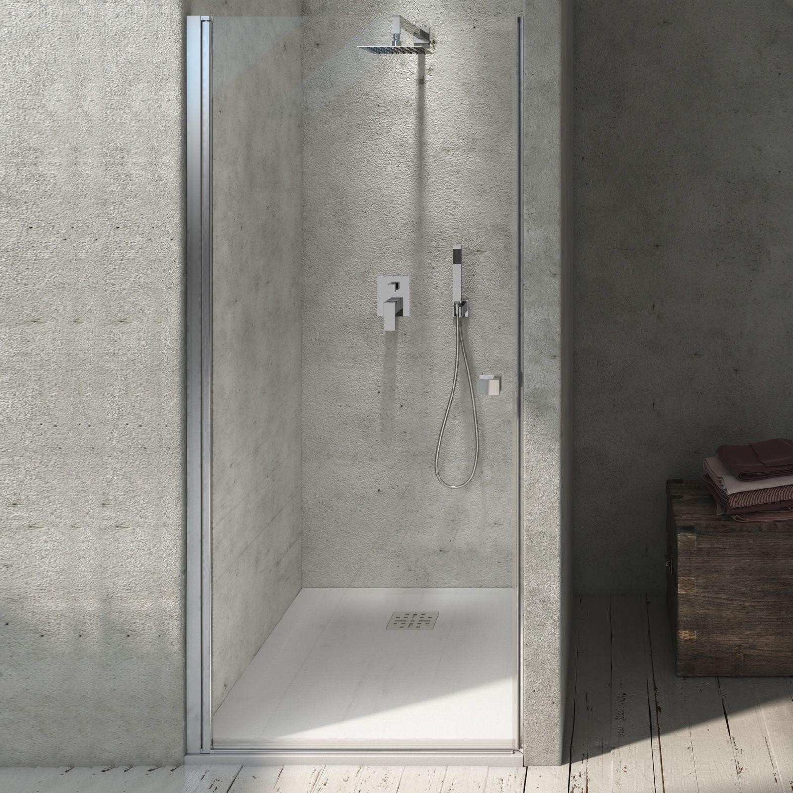 Porta doccia Tempo battente 70 cm per nicchia apertura