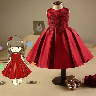 cb4073c6a Vestidos Rojos Para Niñas, Costura De Vestidos De Niñas, Vestidos Bebe  Niña, Vestidos