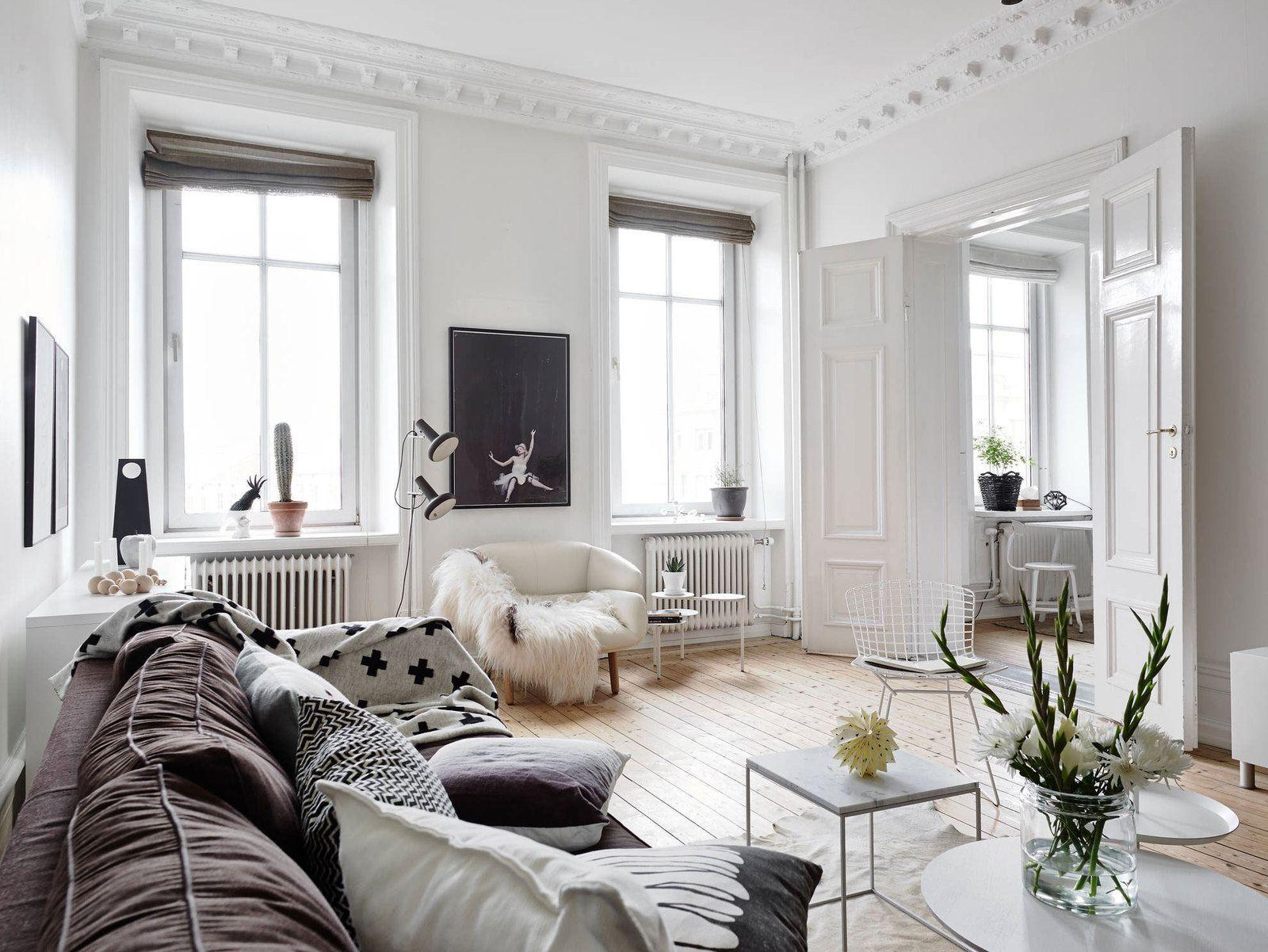 A Classic Swedish Styled Living Room