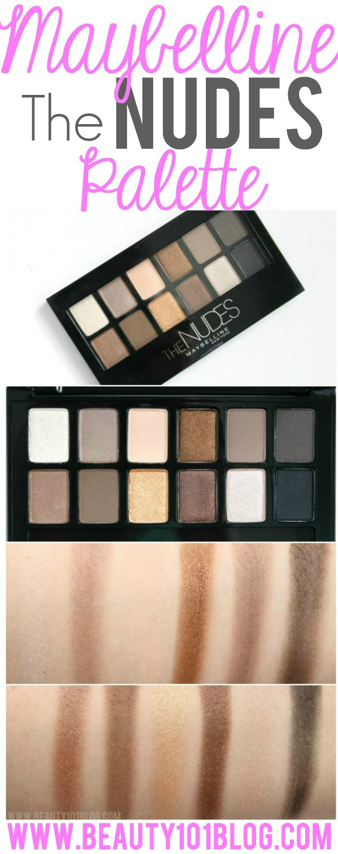 """A 12 pan neutral palette from the drugstore? YES! The new Maybelline """"The Nudes"""" palette is fantastic!"""