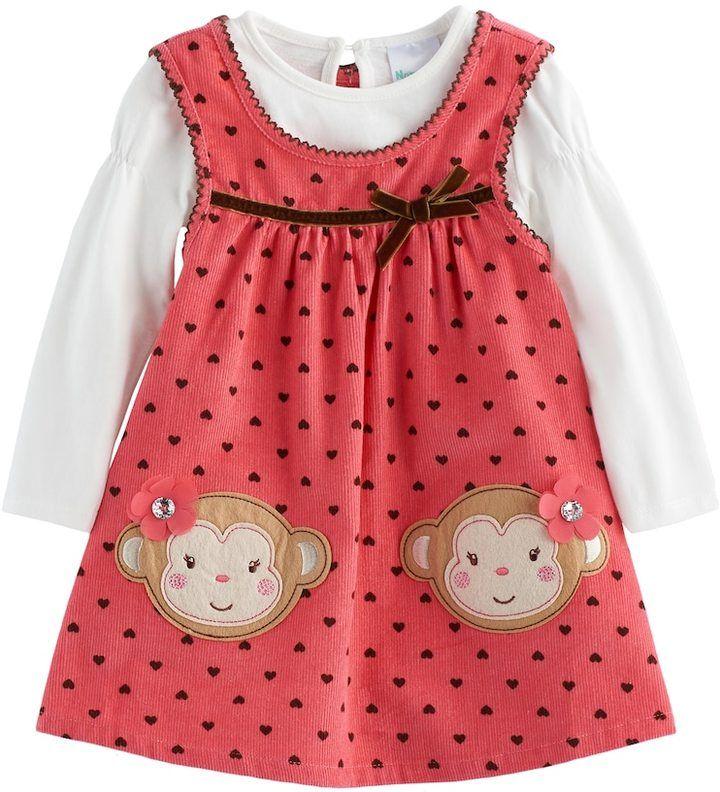 b235370bd Baby Girl Nannette Polka-Dot Monkey Jumper   Bodysuit Set