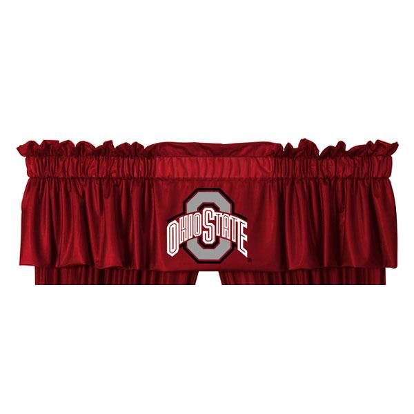 Ncaa Ohio State Buckeyes Sports Coverage Locker Room Curtain Panels In 2020 Valance Panel Curtains Ohio State Buckeyes