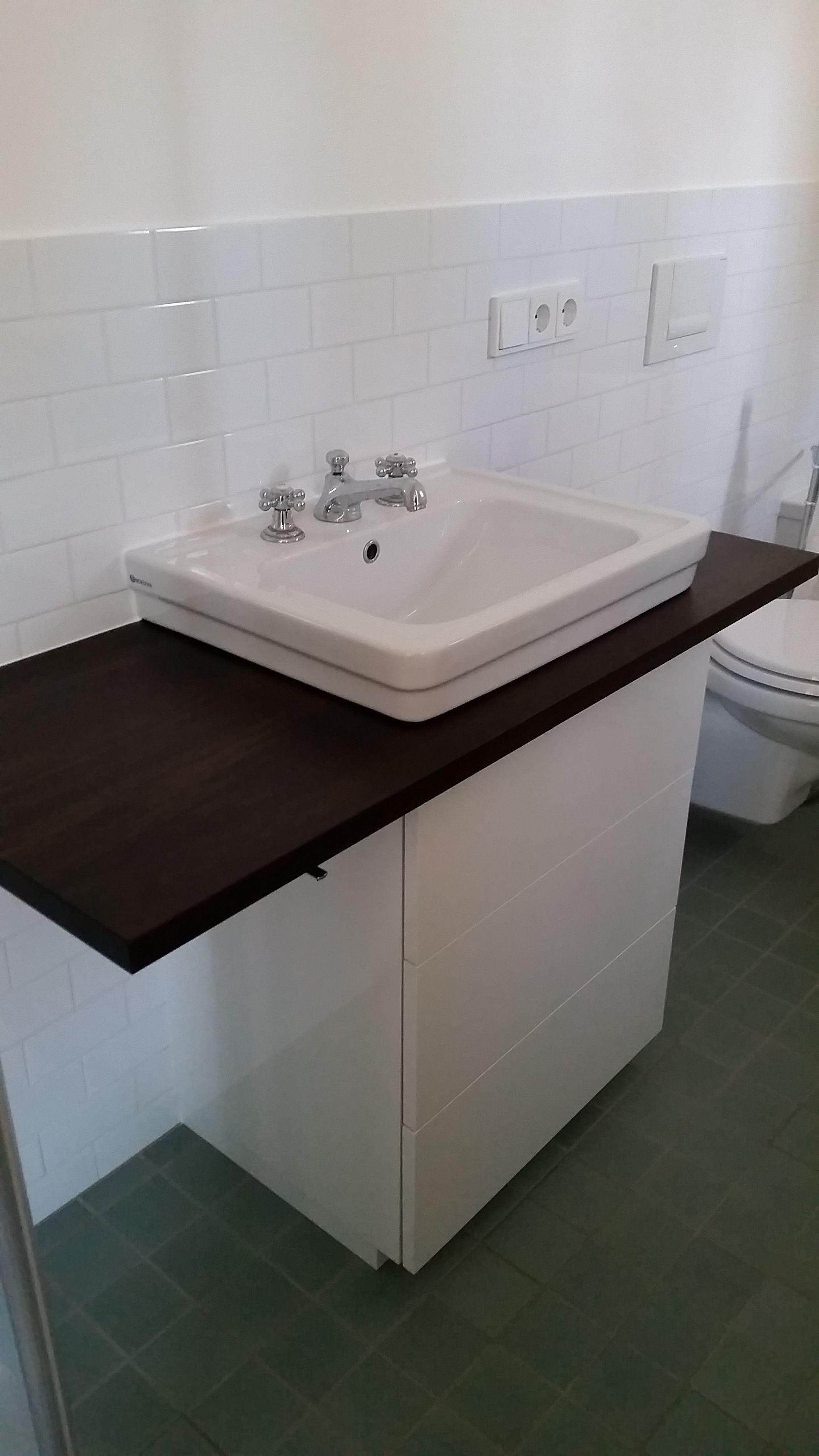 Waschtisch Unterschrank In Hochglanz Weiss Mit Platte In