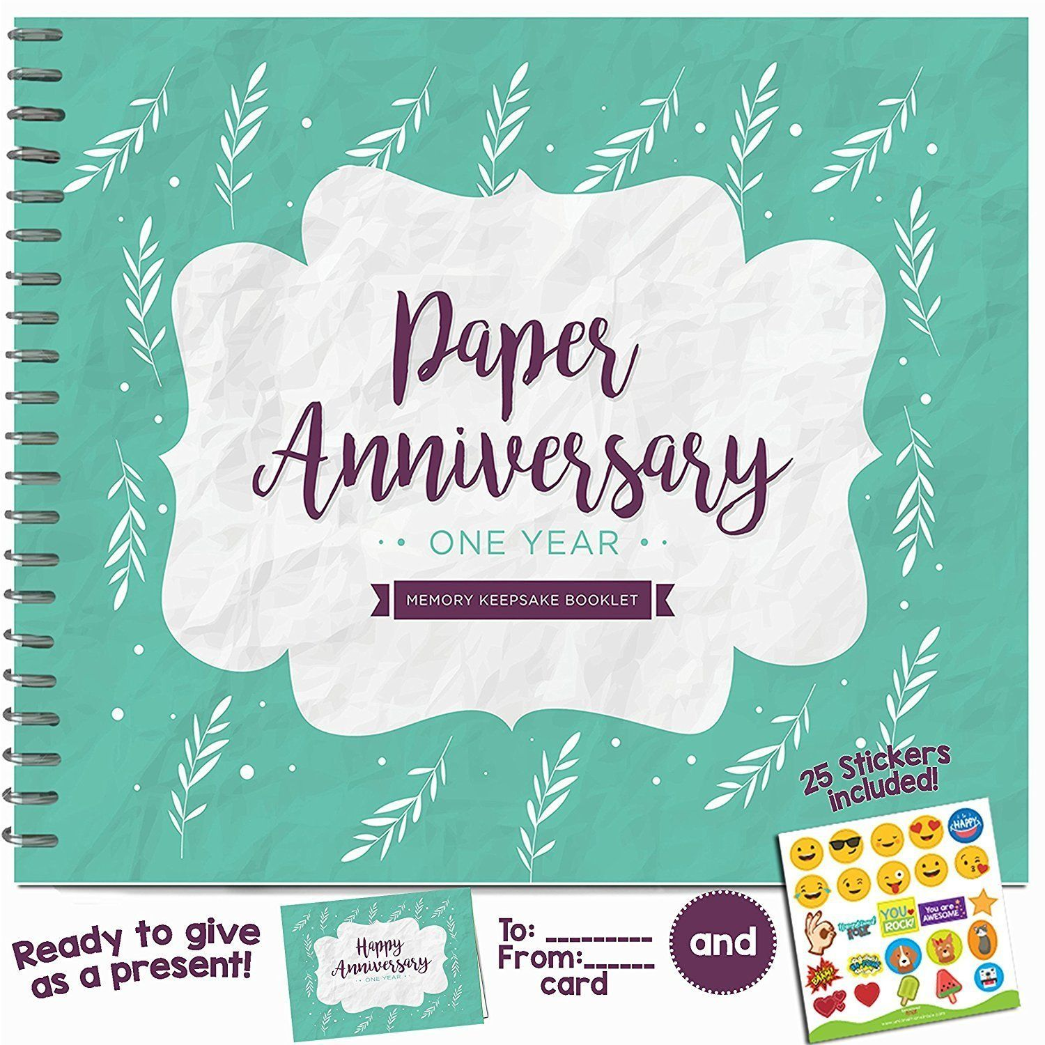 Wedding Anniversary Albums All Together First Year Small Click Image T Paper Wedding Anniversary Gift Paper Gifts Anniversary First Wedding Anniversary Gift