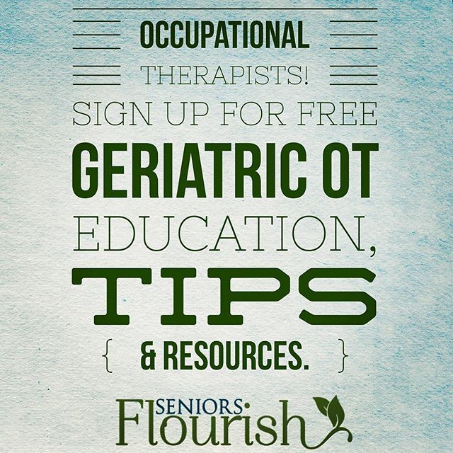 Occupational Therapy Older Adults Occupational Therapy Assistant Ocupational Therapy Occupational Therapy