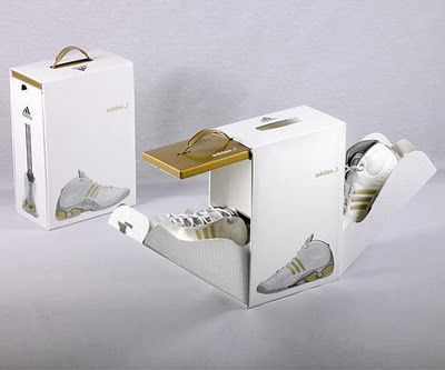 love Adidas' new shoe packaging. @Joseph Cohen Jonge Stroh loves cool packaging