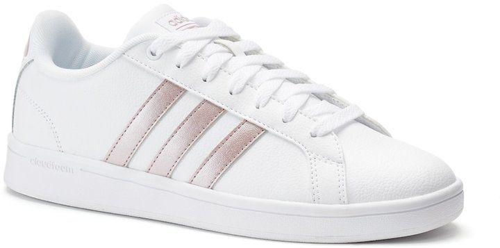 adidas neo cloudfoam vantaggio la striscia di scarpe da donna, dimensioni: 11, bianco