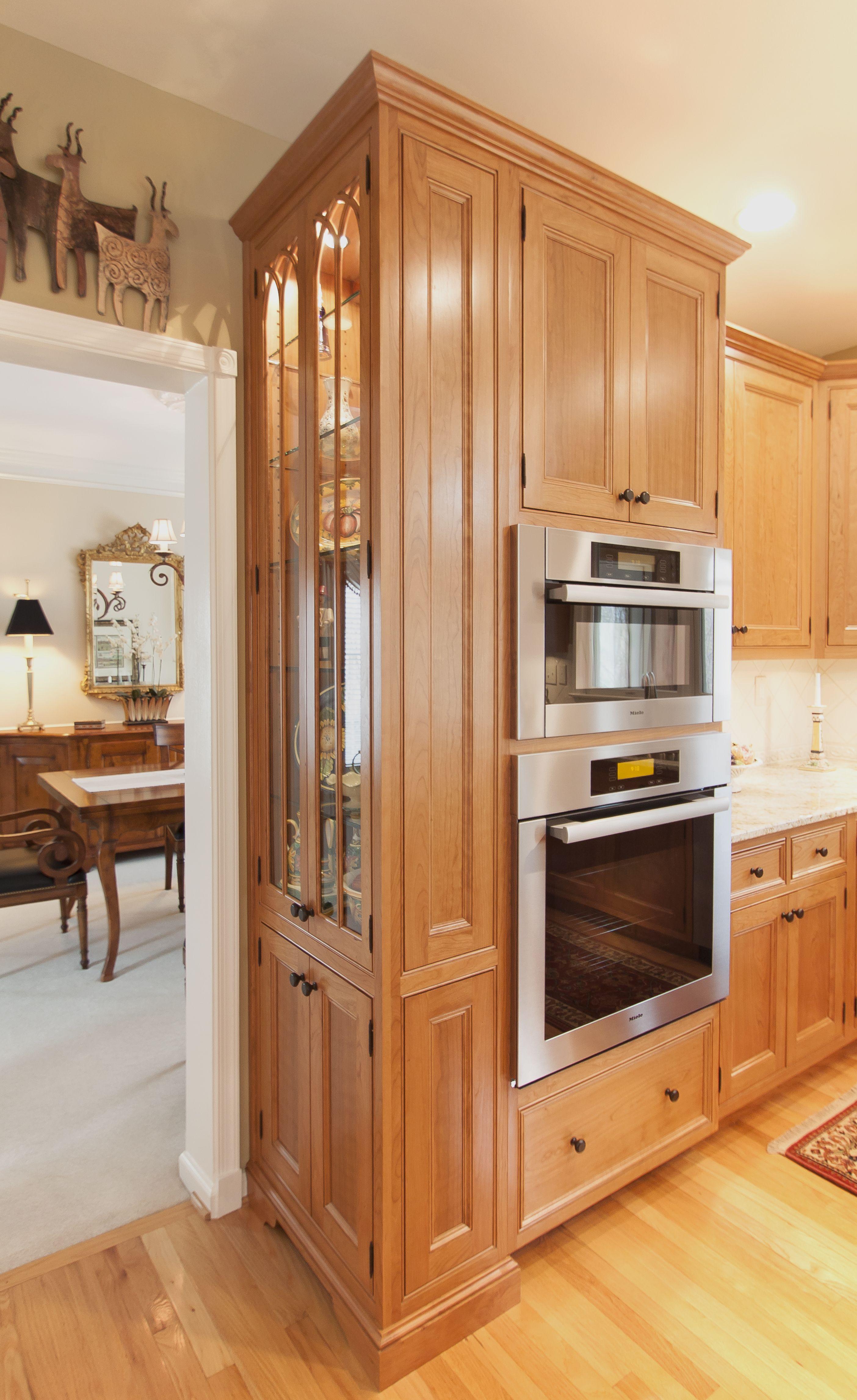 Cherry Wood With Nutmeg Finish Cherry Wood Kitchens Cherry Wood Cabinets Kitchen