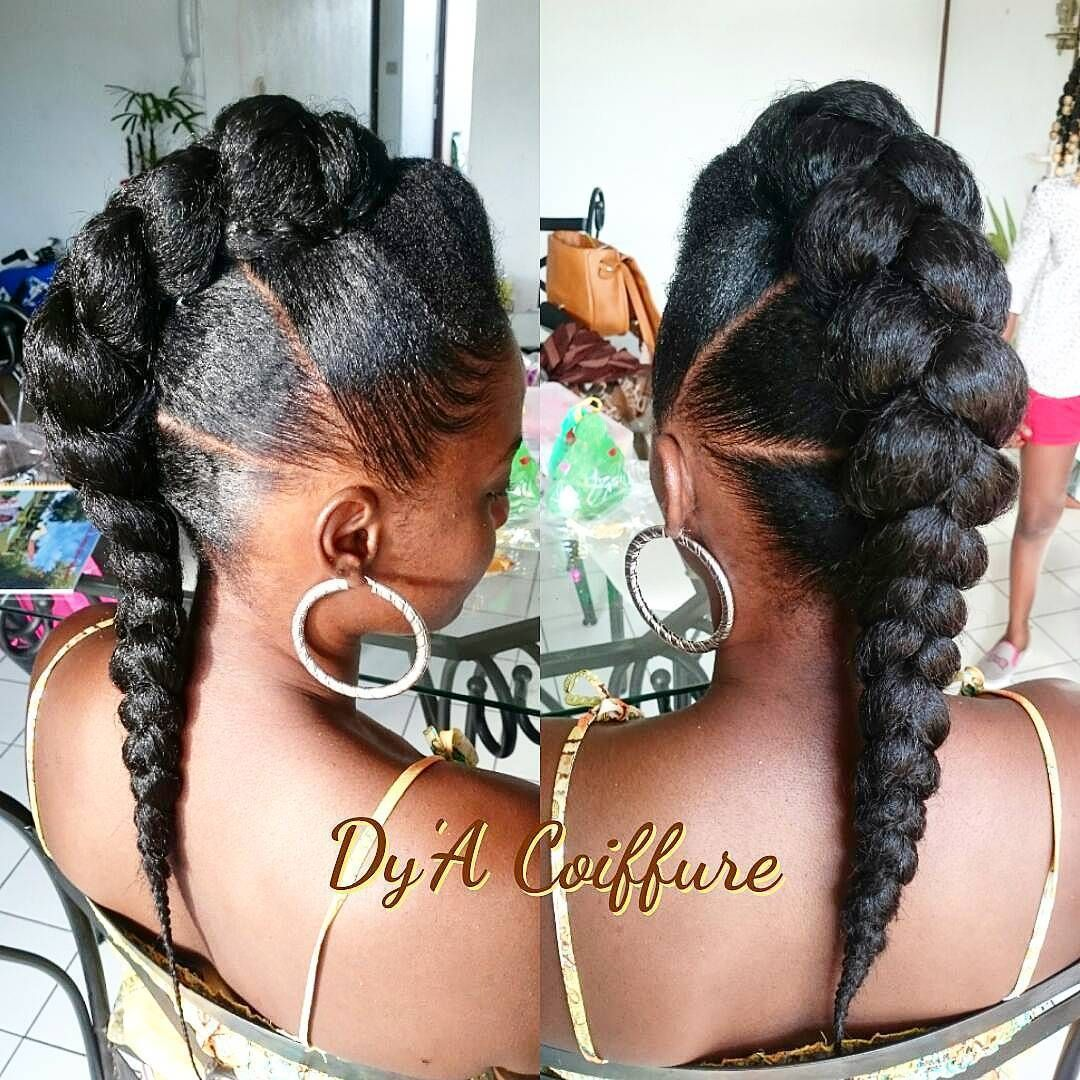 60 Easy and Showy Protective Hairstyles for Natural Hair #naturalhairupdo
