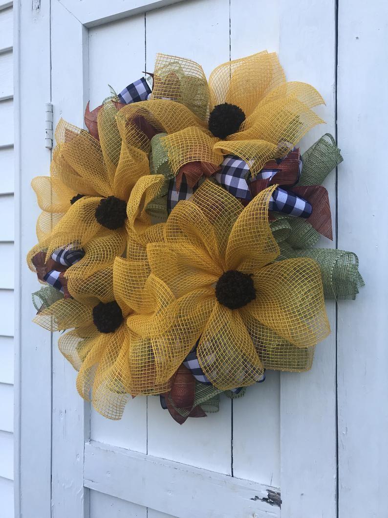 Photo of Blackeyed Susan Wreath, Spring Front Door Wreath