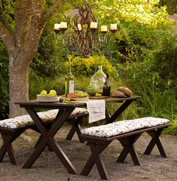 Garden Bench Table Part - 47: A Luscious Life: Picnics