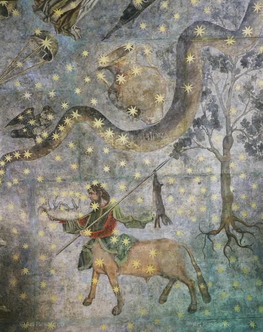 Artist Unknown - Centaur and hydra, zodiac fresco, 16th century, cupola of the Old Library, University of Salamanca, Spain