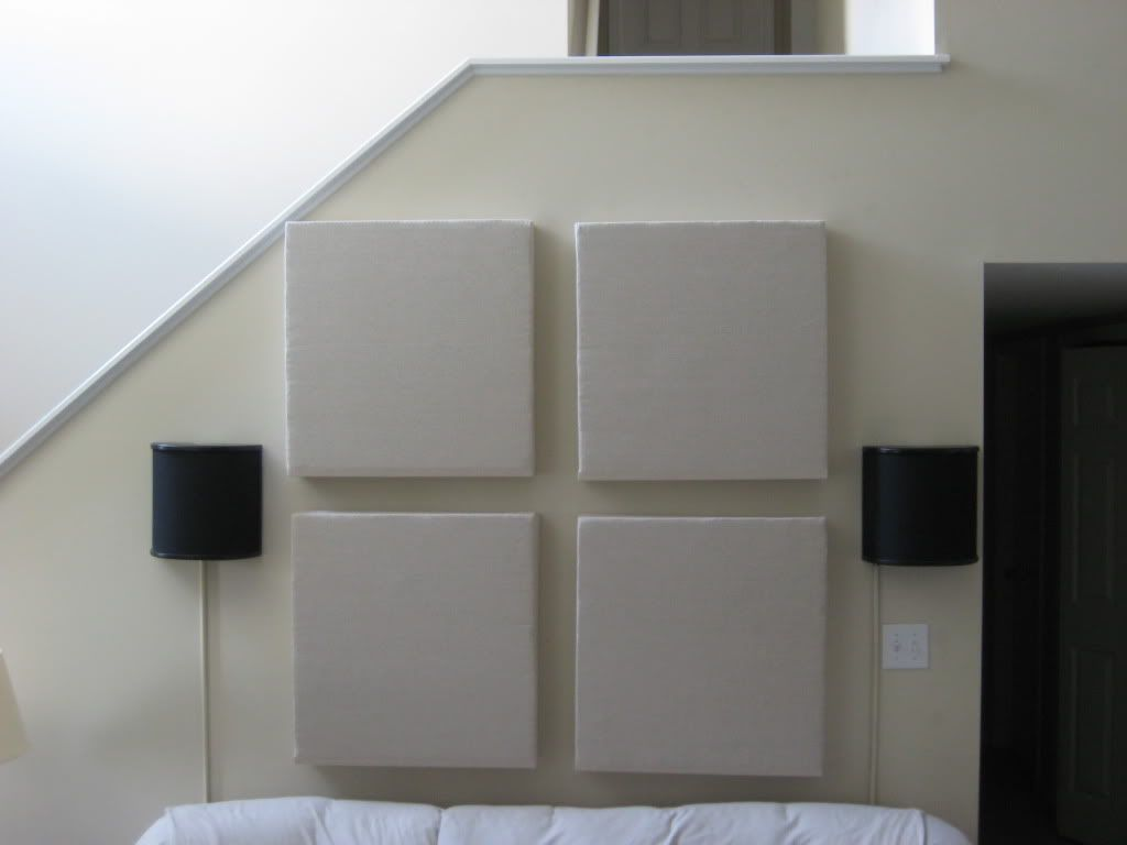 Diy Acoustic Panels Tutorial Blu Ray Forum Acoustic Panels Diy Acoustic Panels Home Music Rooms