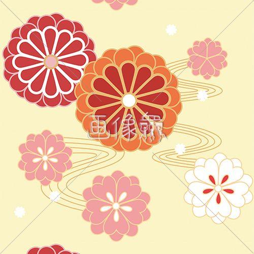 和風の花のイラストです Flower Japanese Pattern Flower 模様素材 イラスト素材 Stockphotos Design 画像衆 花 イラスト 花 イラスト 無料 花 イラスト 簡単