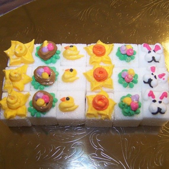 48 beautifly decorated easter sugar cubes these make a great gift these make a great gift for easter party favors or hostess gift each sugar cube is lovingly negle Choice Image