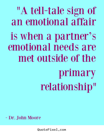 Signs of emotional affair