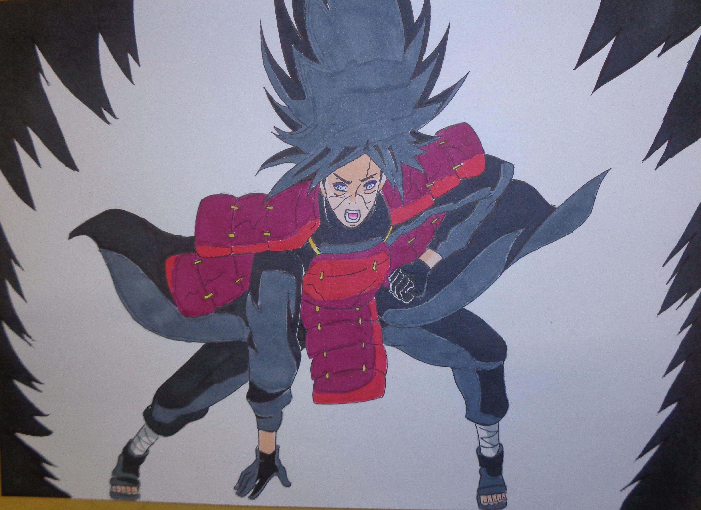 Madara Uchiha Drawing-Naruto Shippuden in 2020   Madara ...