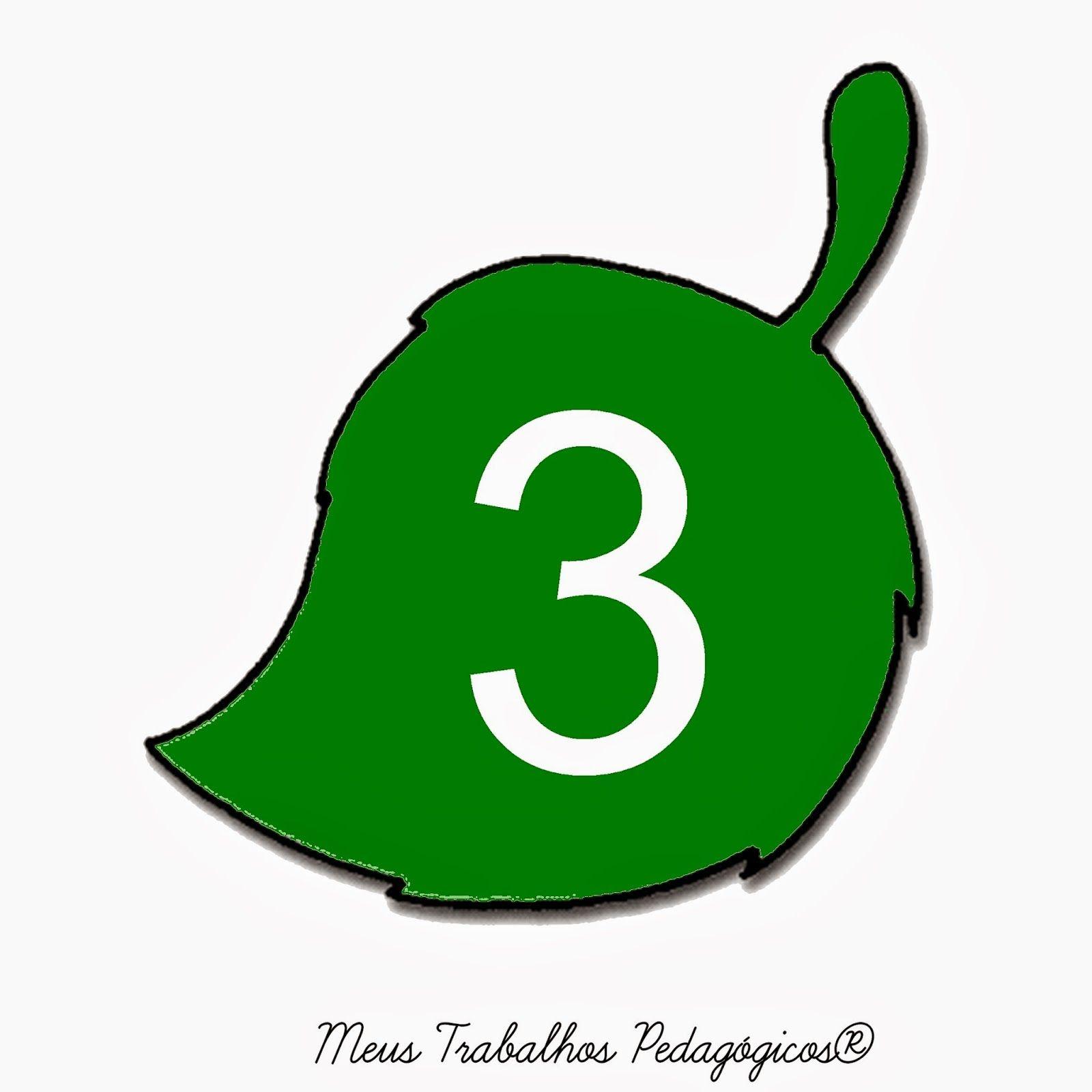 Meus Trabalhos Pedagógicos ®: Folha com números para decorar sala de aula