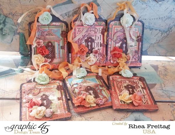 A gorgeous set of Artisan Style tags by Rhea! Love each and every one #graphic45