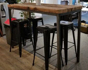 Image Result For Industrial Bar Table
