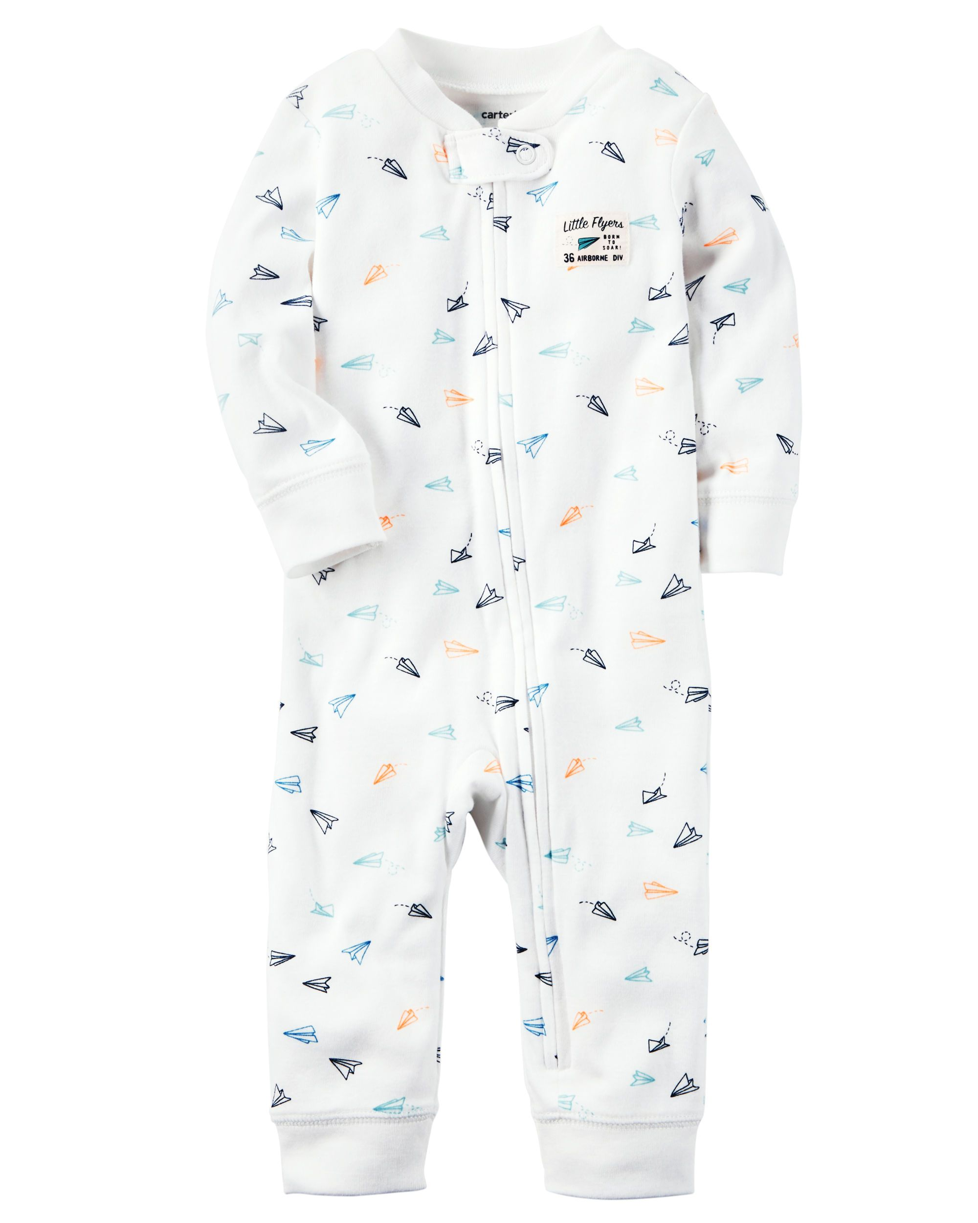 fa0149055 Cotton Zip-Up Footless Sleep   Play