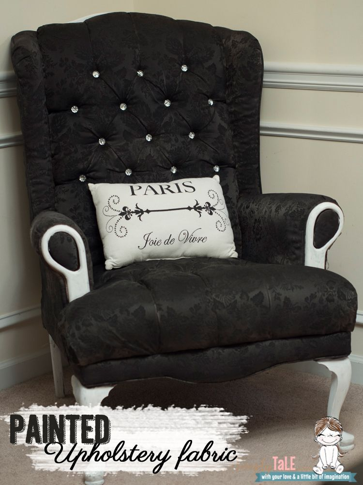 fabric paint fabric spray paint how to paint fabric wing back chair upholstery victorias. Black Bedroom Furniture Sets. Home Design Ideas
