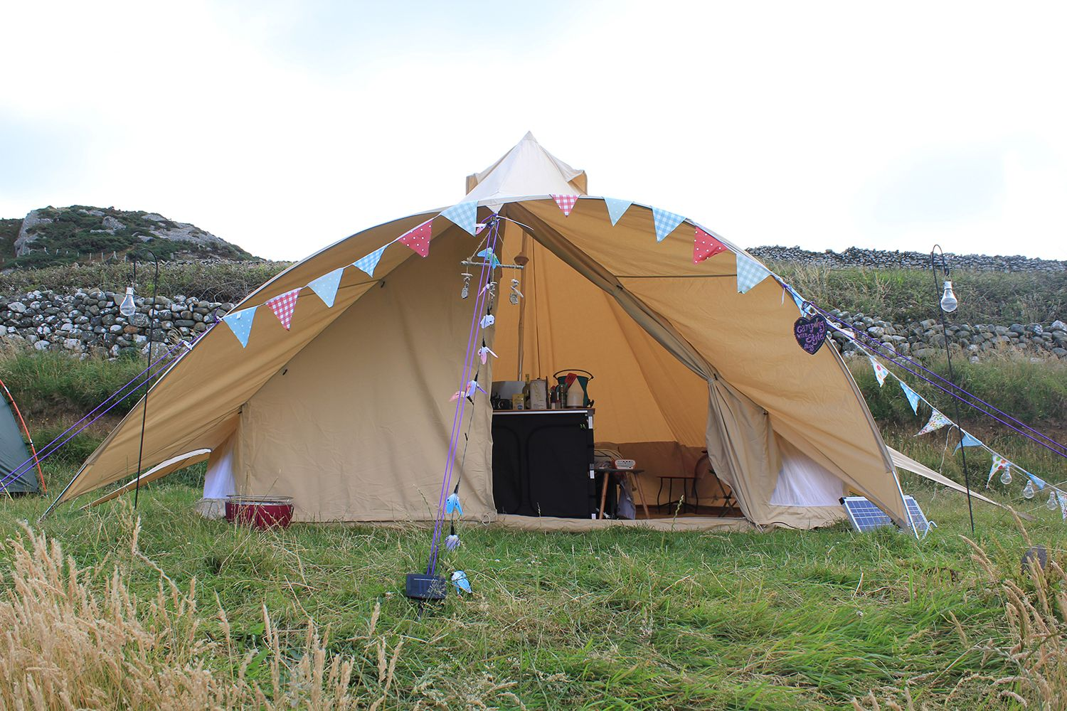 Boutique C&ing Star Canopy Bell Tent  sc 1 st  Pinterest & Boutique Camping Star Canopy Bell Tent | CWS ? Unusual u0026 Funky ...