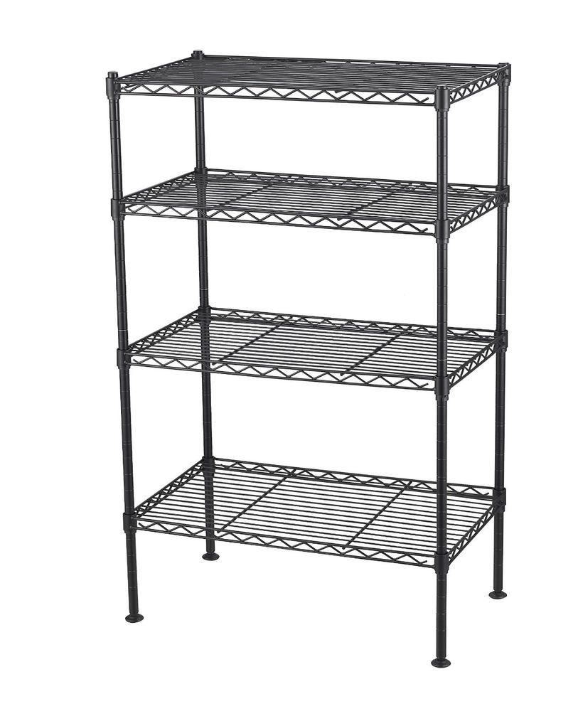 4-tier Wire Shelving Metal Shelf Rack Storage Shelves Kitchen ...