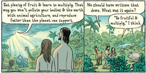 Bizarro What God Actually Said To Adam And Eve Animal