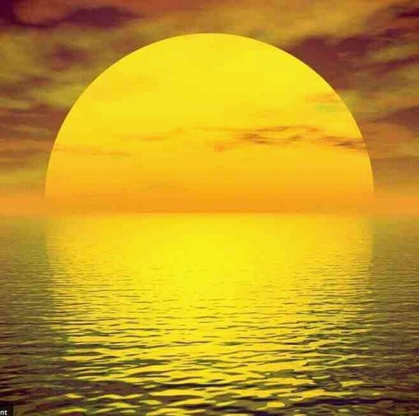 Image result for sun setting on the ocean horizon germany