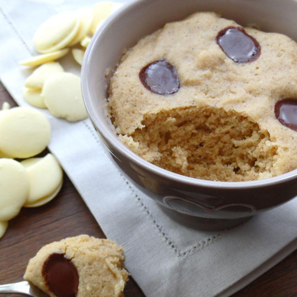 Chestnut flour white chocolate mug cake   Recipe ...