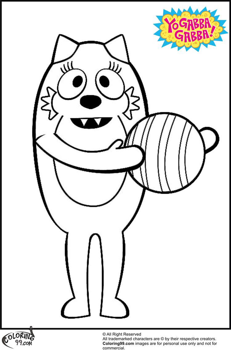 coloring pages yo gabba gabba coloring page mycoloring free