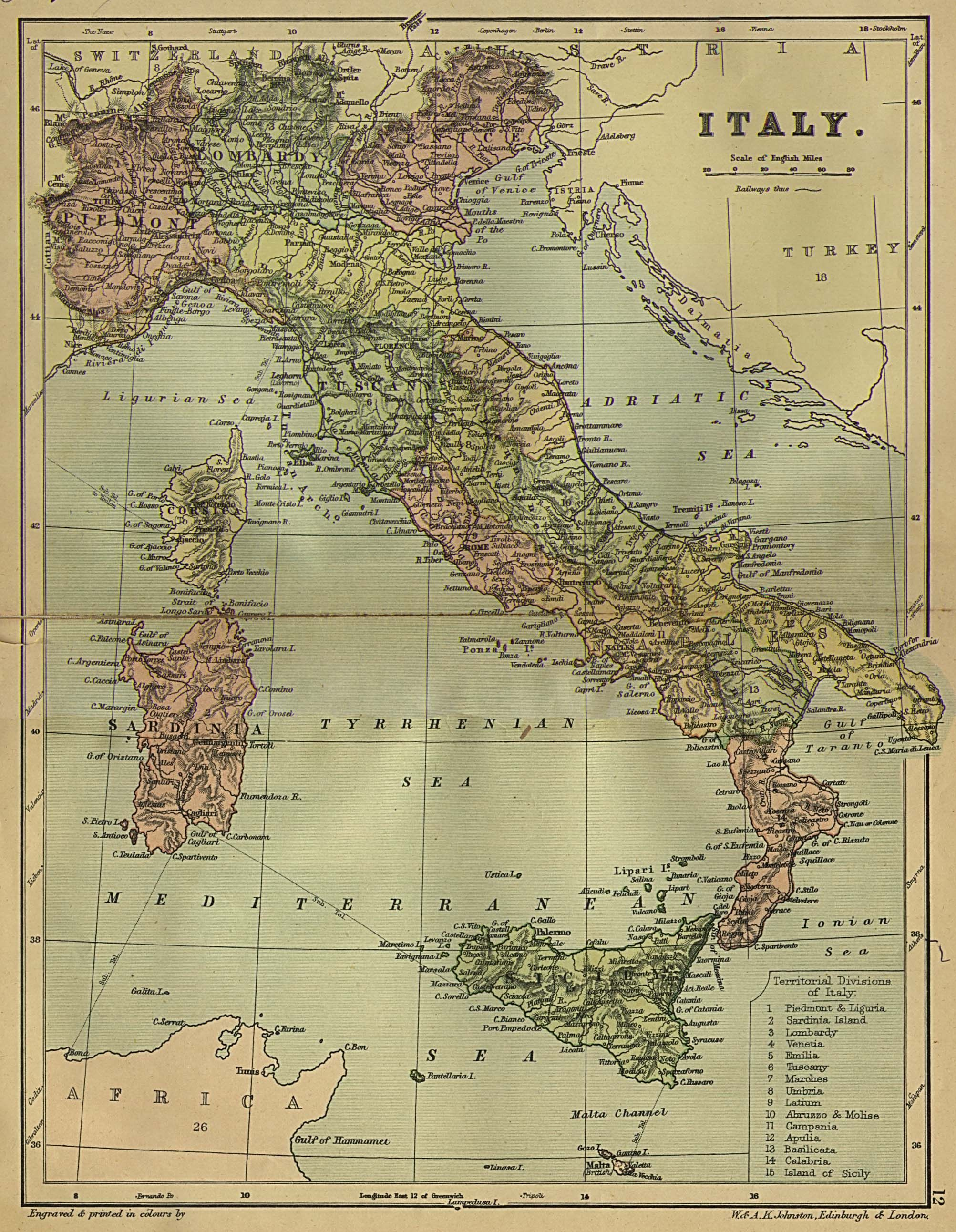 Vintage pics italians historical maps everything italian italy 1882 check out the extent of the turkish empire present day croatia serbia albania etc o where i live now wouldnt even be italy gumiabroncs Image collections