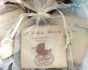 A Baby is Brewing Tea Tin Baby Shower Favors | Set