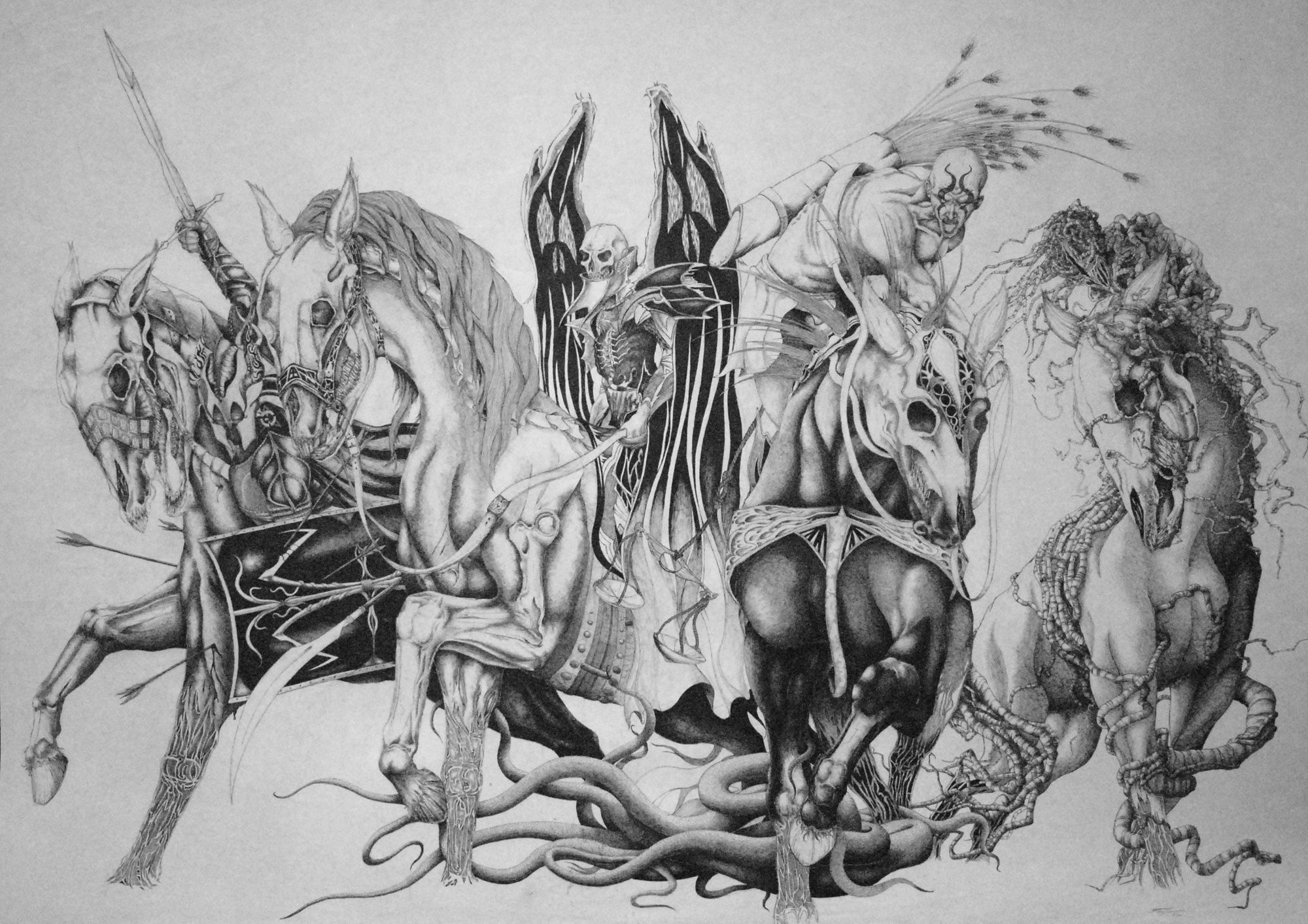 The 4 Horsemen in Bible   respectfully refer to the seven 7