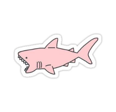 Pink Shark Sticker In 2019 Products Stickers Tumblr Stickers