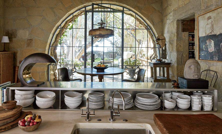 K Inside Ellen Degeneres S Stunning Santa Barbara Villa The Kitchen From Instyle