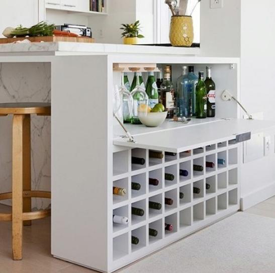 adega de vinhos e balcão | Bar | Pinterest | Bar, Kitchens and ...