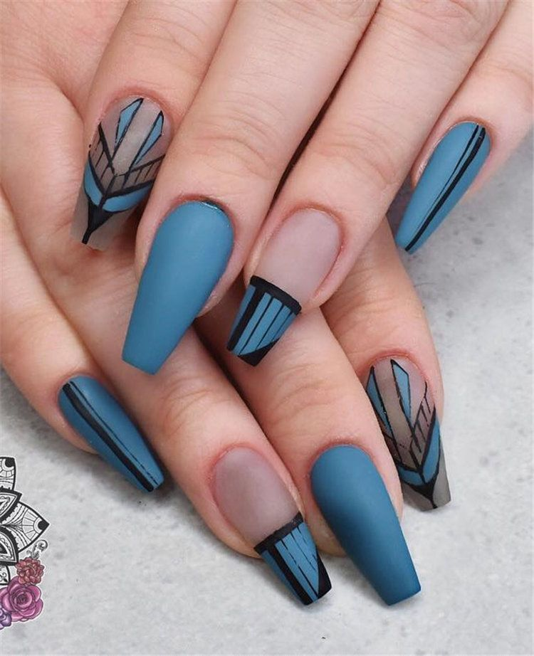 77 Stylish Simple Geometric Nail Art Designs Trendy Ideas