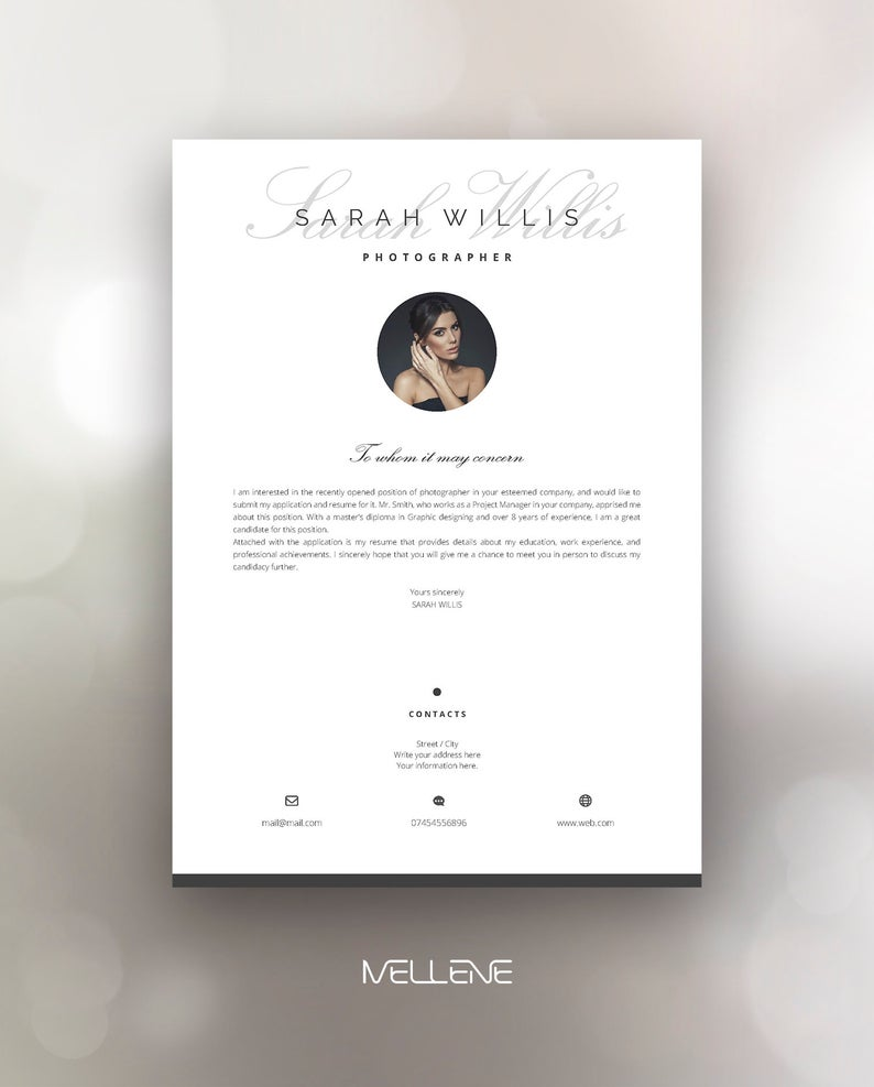 Professional Creative Resume Template 5 Page Cv Template Etsy Creative Resume Templates Creative Resume Resume Template