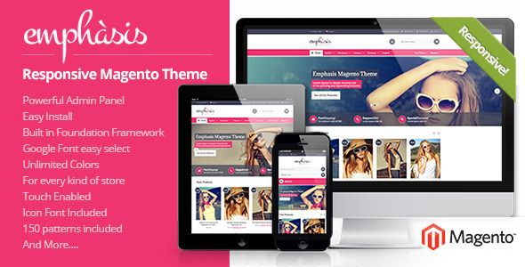 Emphasis - Multipurpose Responsive Magento Theme - #Download ...